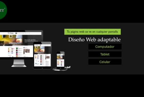 web Site  Wordpress  HTML hablamos español