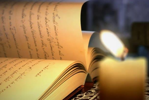 create a magical book logo intro