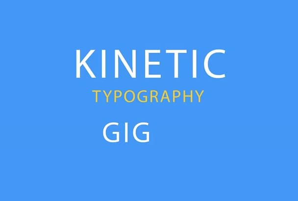 make Kinetic typography Intro