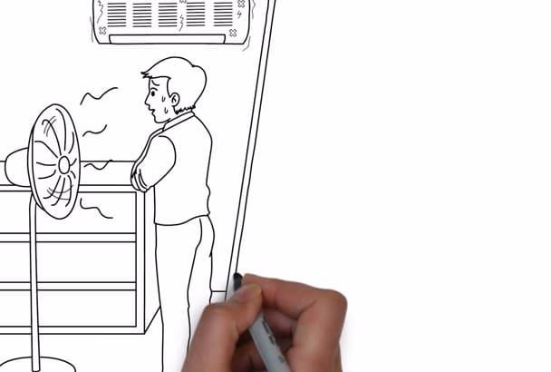 create this HVAC Whiteboard Video c