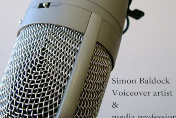 supply a pro British voiceover in 48 hours or less