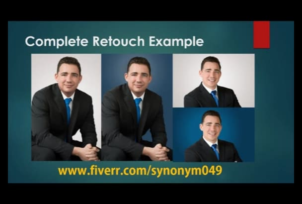 do all listed photoshop editing, retouch upto 5 images