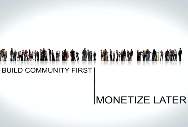 make community commercial for your links