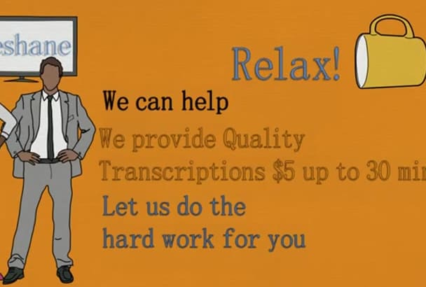 provide HQ transcription service
