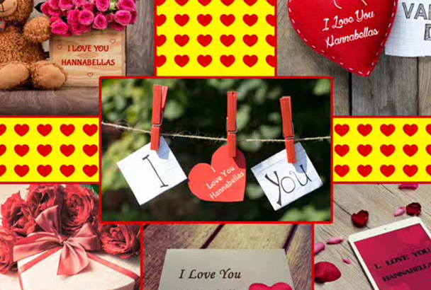 write your Love message on 10 VALENTINES cards