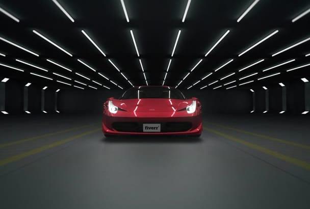 create Ferrari Whoom Whoom Logo Reveal Intro