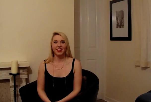 make a NATURAL video testimonisl