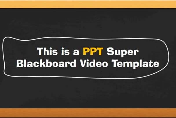 provide an Awesome Powerpoint Video Template