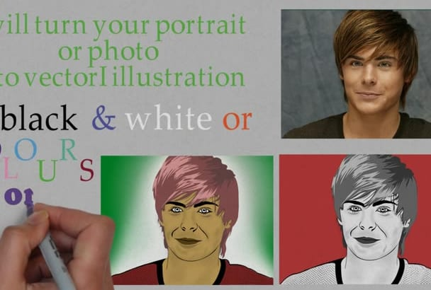 draw your photo to cute CARTOON portrait