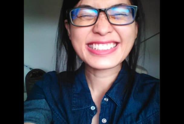 do female voiceover in native English, Mandarin or Japanese