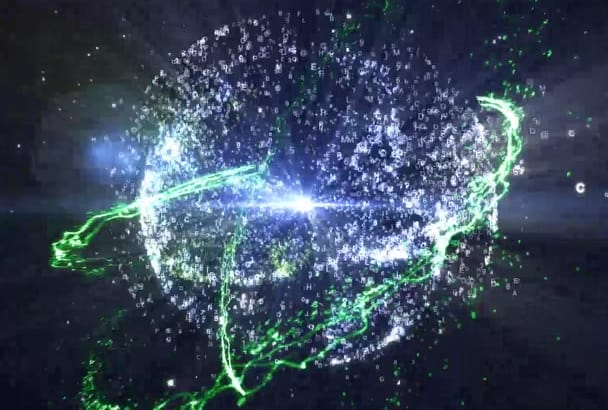 animate Particle Effect logo animation Full HD