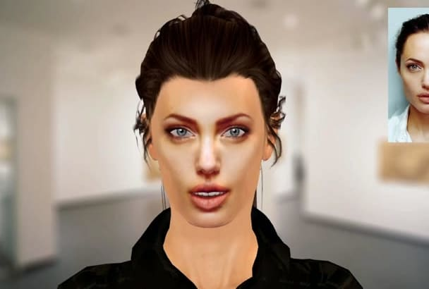 make your face in 3d with animation