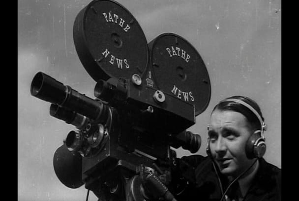 be your British BBC television and radio pathe announcer