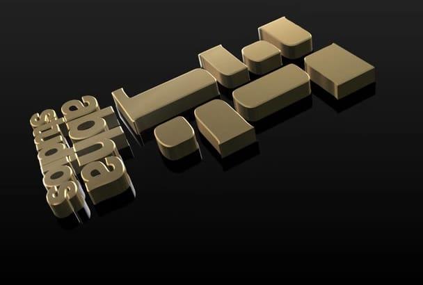 create 3D logo animation