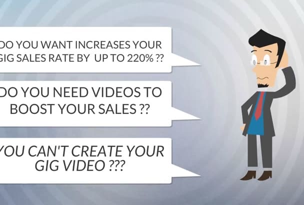 create 2D Animation video For Fiverr gig in 24hrs
