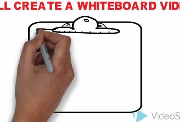 create a professional whiteboard video