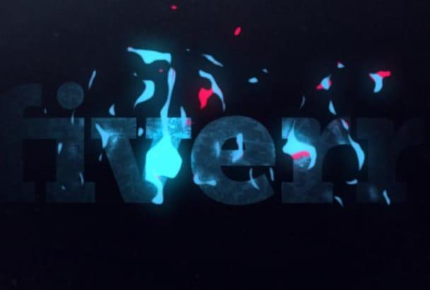 make stunning retro pop art logo animation video intro