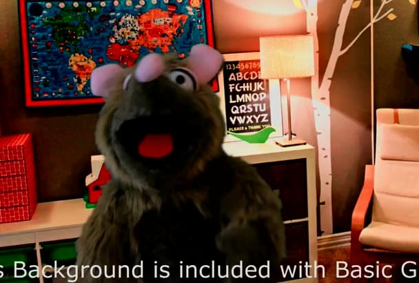 rat Animal Puppet your message in English or Spanish