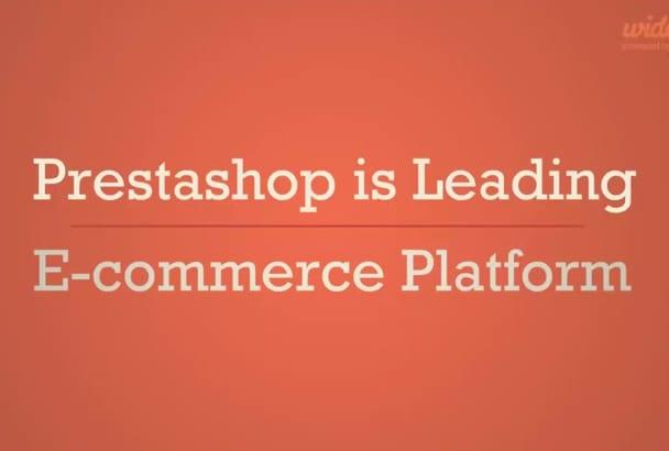 create professional eCommerce prestashop website