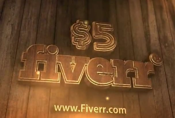 create for you video 3D logo intro on wooden