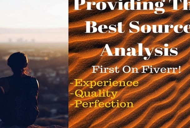 write a source analysis that will be INSIGHTFUL in 24 hours