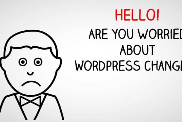 make changes to wordpress website in 24 hour