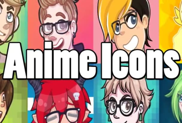 draw you an anime cartoon social media icon