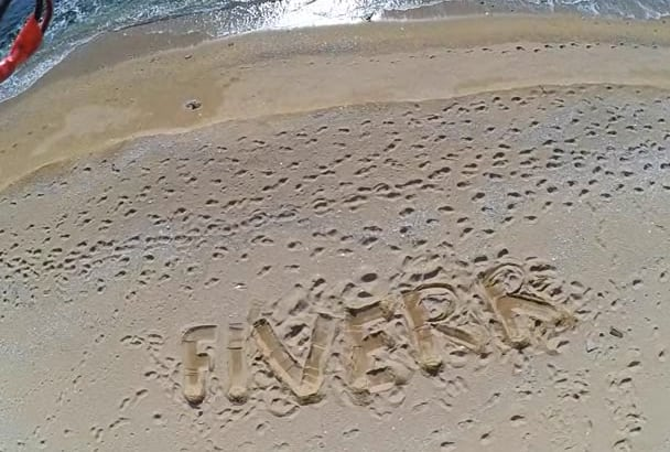 fly my drone to your message on the beach