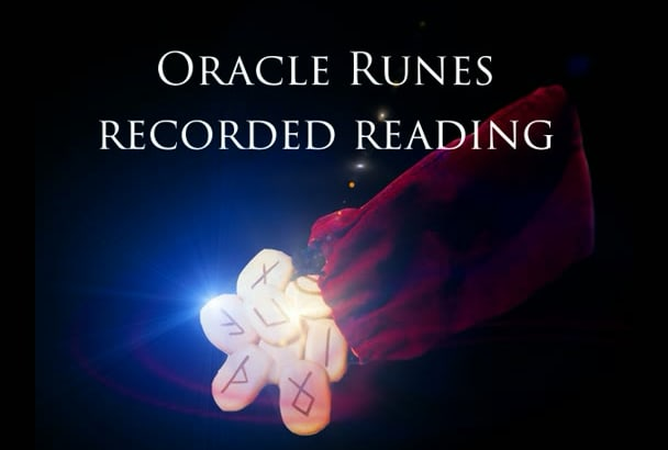 record your answer using the ancient Runes Oracle on mp3