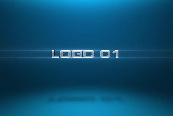 create 4 3D logo intros