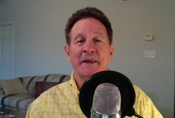 record an engaging American male voiceover