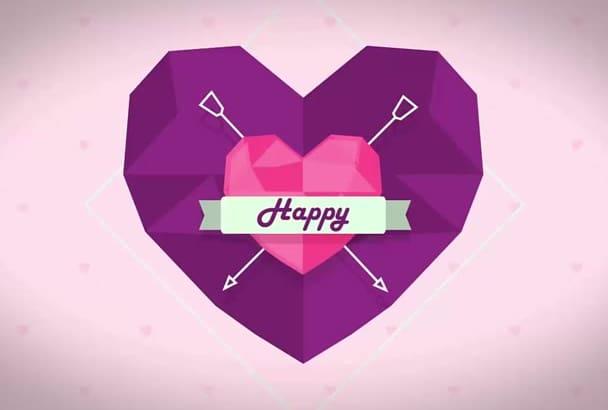 make a Romantic Valentines day video