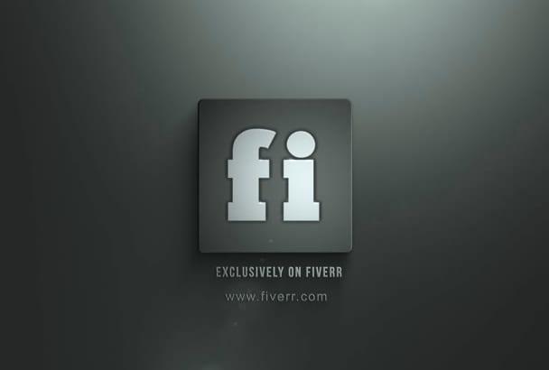 make this Amazing  Elegant Logo Intro