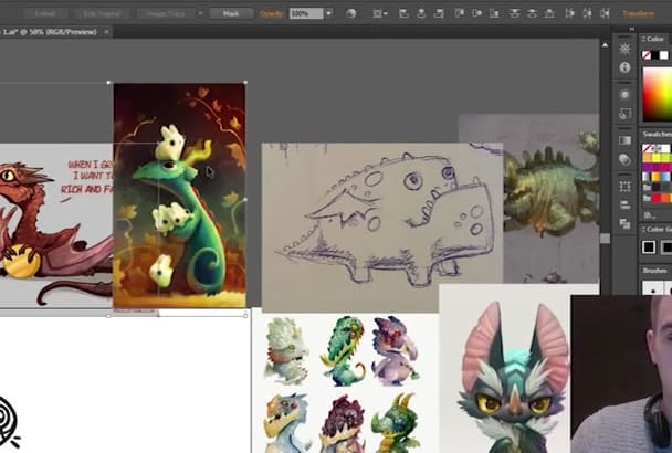 draw a funky character illustration