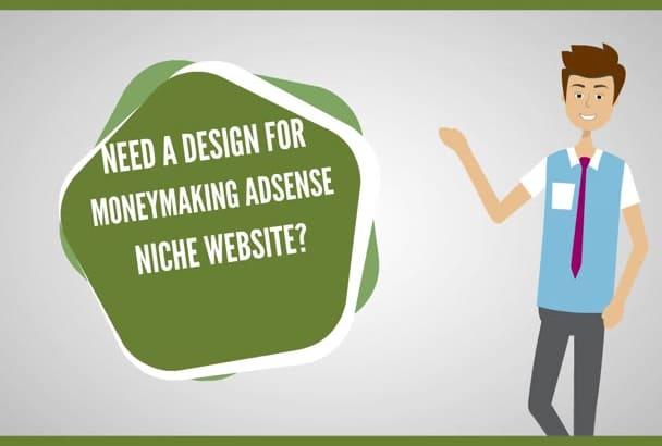 design money making adsense niche website