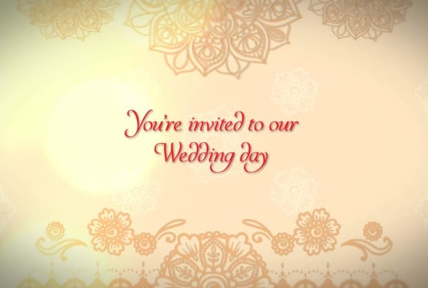 this wedding video invitation theme