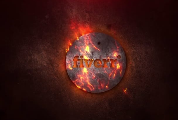 create this Epic 3d Fire Intro with your Logo