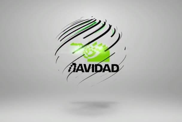 create a powerful 3d logo video