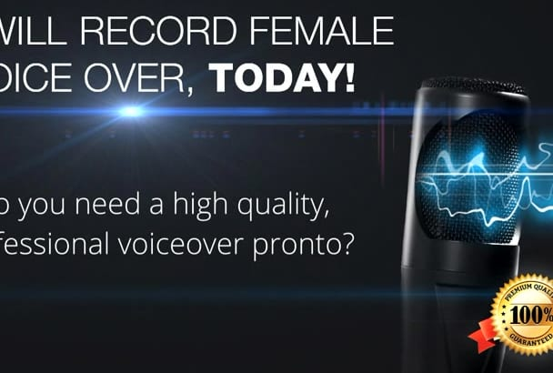 record Female Russian voice over in 24 hours