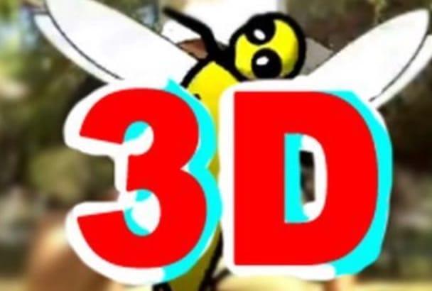 convert your video into a true 3D video
