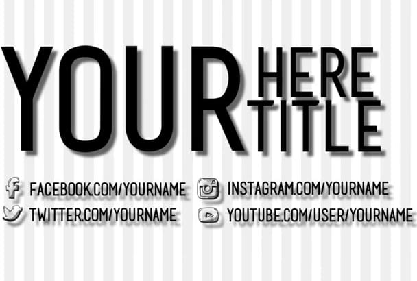 create a professional video intro