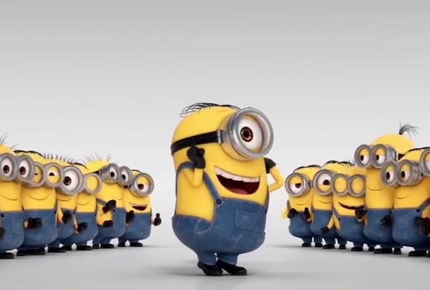 advertise your logo or text by minion