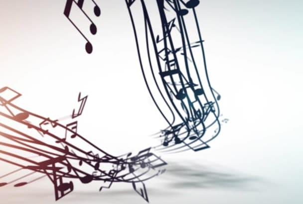 create Logo Opener with Musical Notes