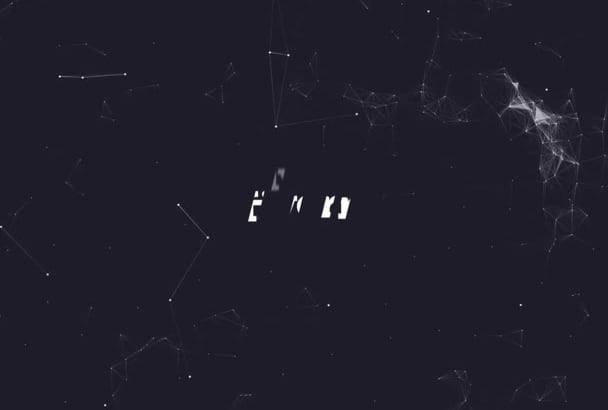 create elegant glitch logo intro reveal