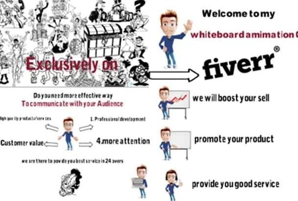 create an Awesome whiteboard Animations