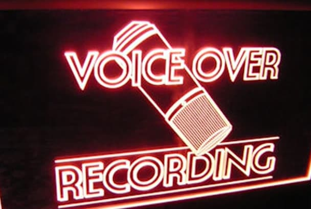 record a radio voice over or imaging