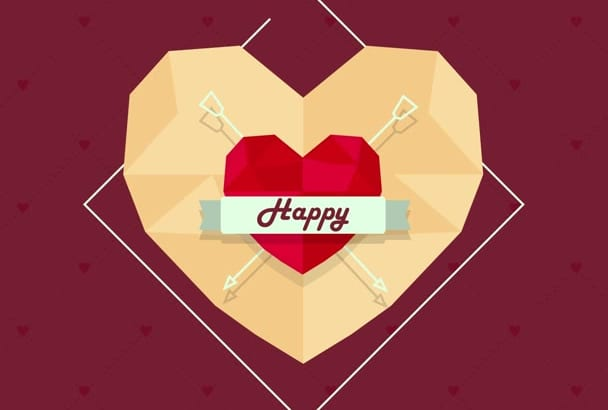 create this lovely Valentines Day GREETING Video