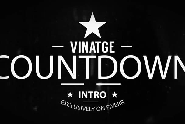 create a Vintage Countdown Intro in 24hrs