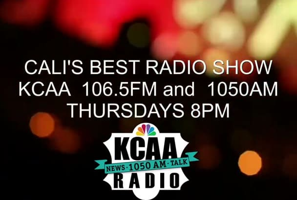 interview on 106 5FM KCAA radio station in California