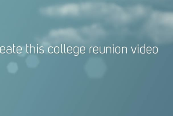 create this college reunion video or any from pictures you provide